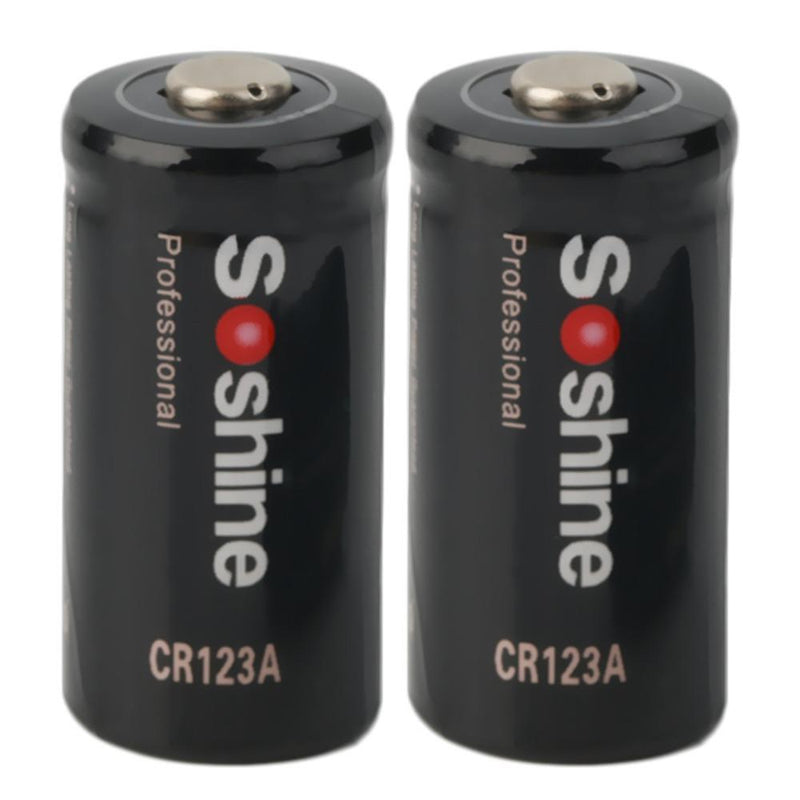 2pcs CR123A 3.0V 1600mAh Primary Battery for Tactical flashlight for Soshine Wholesale Drop Shipping - Balog Combat Systems (BCSTACTICAL),