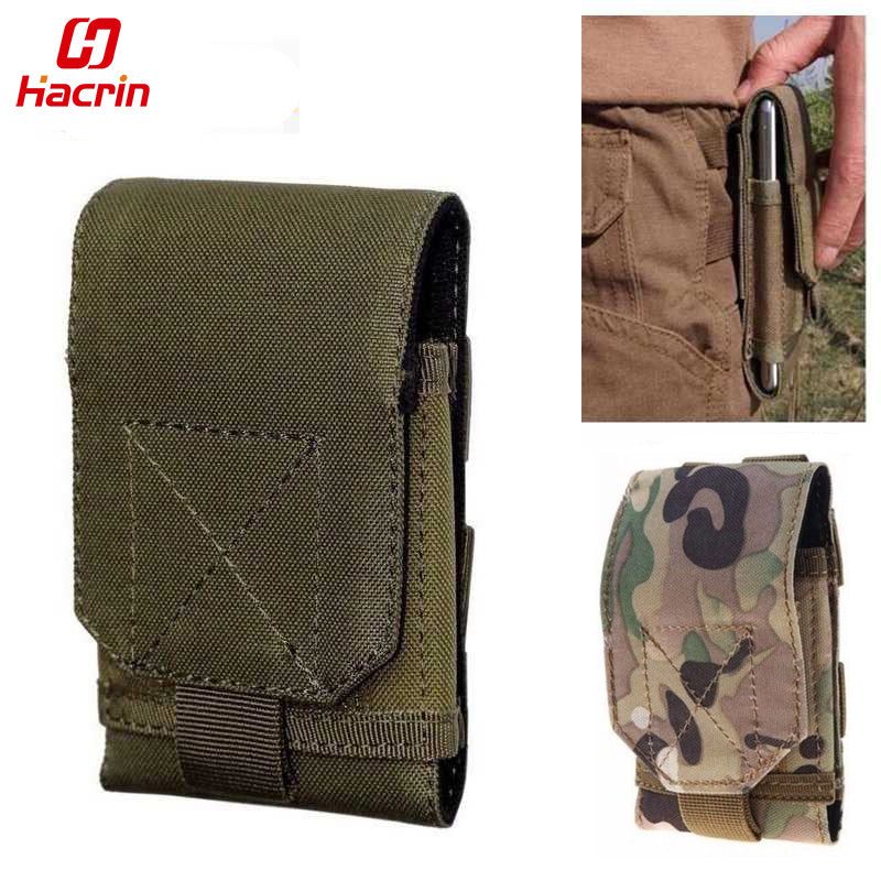 hacrin phone waist bag Large Size Army Camo Mobile Phone Hook Belt Pouch Sleeve Holster - Balog Combat Systems (BCSTACTICAL),