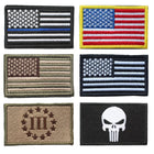Bundle 6 Pieces Full Color USA American Thin Blue Line flag - Balog Combat Systems (BCSTACTICAL),