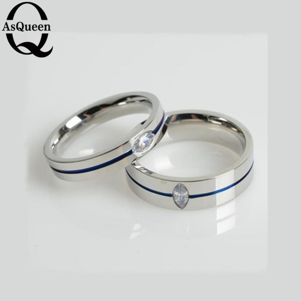 2017 Fashion Thin Blue Line Titanium Ring Wedding Brand 4MM/6MM BLUE Rings For Men Jewelry - Balog Combat Systems (BCSTACTICAL),