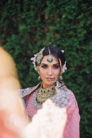 indian bridal jewelry shoot