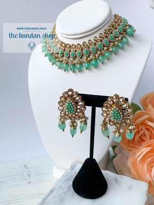 Foolish - Mint, Necklace Sets - THE KUNDAN SHOP