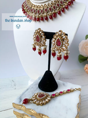 Foolish - Ruby, Necklace Sets - THE KUNDAN SHOP