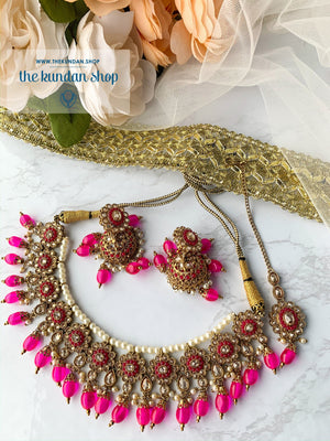 Dating Game - Hot Pink, Necklace Sets - THE KUNDAN SHOP