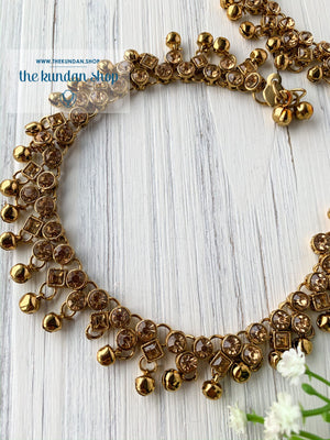 Rhinestone Layers in Diamond, Anklets - THE KUNDAN SHOP