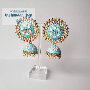 Flower Party, Earrings - THE KUNDAN SHOP