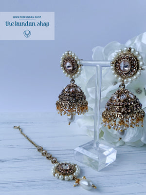 Introspective (various colours), Earrings + Tikka - THE KUNDAN SHOP