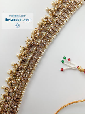 New Beginnings - Pearl (necklace only), Necklace Sets - THE KUNDAN SHOP