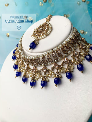 New Beginnings - Blue, Necklace Sets - THE KUNDAN SHOP