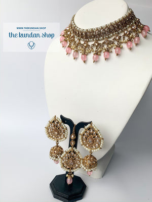 New Beginnings - Pink, Necklace Sets - THE KUNDAN SHOP