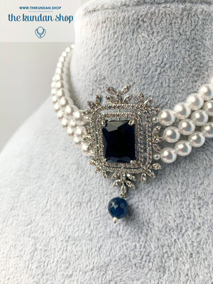 After Hours in Sapphire, Necklace Set - THE KUNDAN SHOP