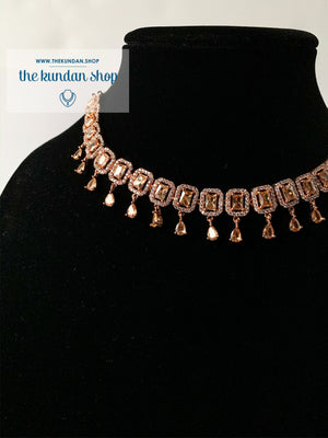 Evening Elegance - Square, Necklace Sets - THE KUNDAN SHOP