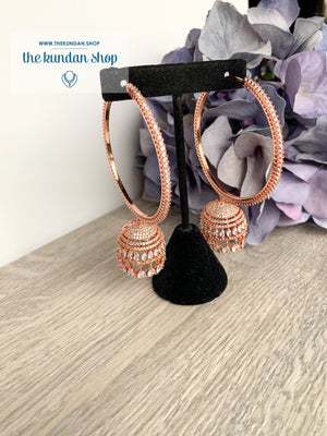 Blossom in Rose Gold Earrings THE KUNDAN SHOP