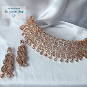 Impulsive in Rose Gold, Necklace Sets - THE KUNDAN SHOP
