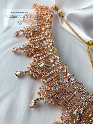 Lustrous in Rose Gold, Necklace Sets - THE KUNDAN SHOP