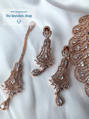 Whimsy in Rose Gold, Necklace Sets - THE KUNDAN SHOP