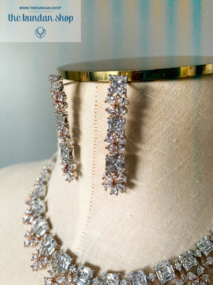 Treasured in Rose Gold, Necklace Sets - THE KUNDAN SHOP