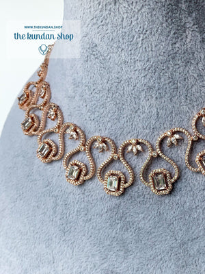 Minimal in Rose Gold, Necklace Sets - THE KUNDAN SHOP