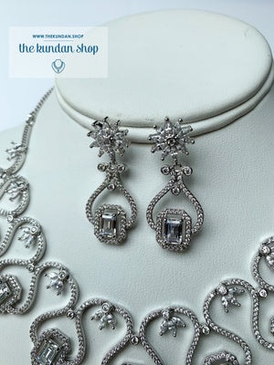 Minimal in Silver, Necklace Sets - THE KUNDAN SHOP