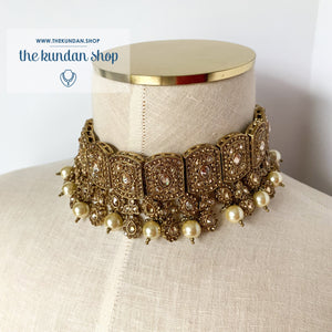 Famous in Gold, Necklace Sets - THE KUNDAN SHOP