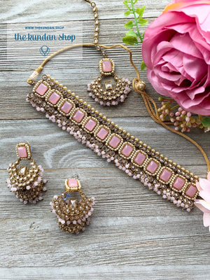 Allured in Classic PInk, Necklace Sets - THE KUNDAN SHOP