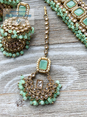 Allured in Mint, Necklace Sets - THE KUNDAN SHOP