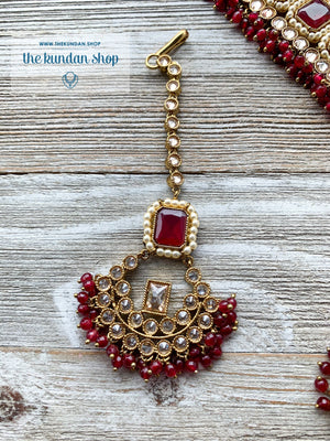 Allured in Ruby, Necklace Sets - THE KUNDAN SHOP