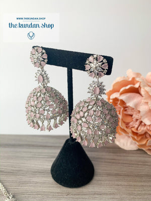 Deep Serene - Pink, Earrings - THE KUNDAN SHOP