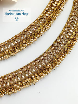 Second In Antique Polki Anklets THE KUNDAN SHOP