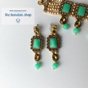 Loyals in Aqua, Necklace Sets - THE KUNDAN SHOP