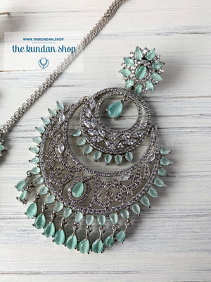 Wishful in Mint, Earrings + Tikka - THE KUNDAN SHOP