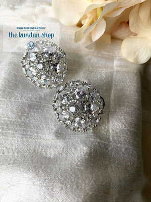 A Prominent Petal, Earrings - THE KUNDAN SHOP