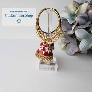 White Flower Baali (various colors), Baalis - THE KUNDAN SHOP