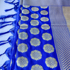 Floret Banarsi - Midnight blue