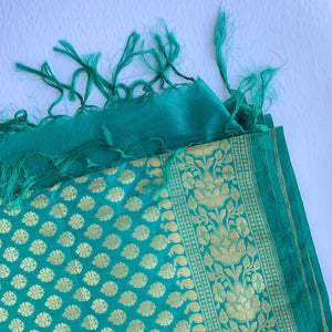 Traditional Green Banarsi Dupatta