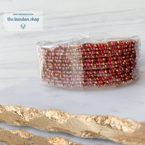 Gold & Bead Bangle Stacks, Bangles - THE KUNDAN SHOP