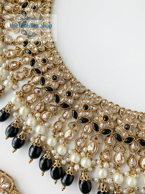 Locked In, In Black Necklace Sets THE KUNDAN SHOP
