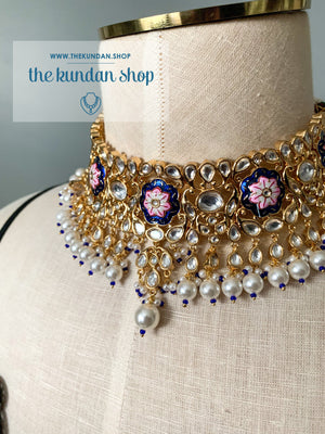 A Bridesmaid's Tale in Blue, Necklace Sets - THE KUNDAN SHOP