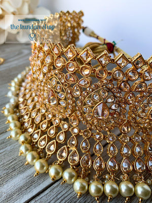 Gratify in Pearl, Necklace Sets - THE KUNDAN SHOP