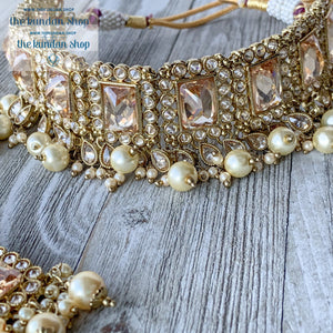 Brilliance in Champagne, Necklace Sets - THE KUNDAN SHOP