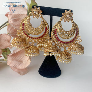 Candied Jumki, Earrings - THE KUNDAN SHOP