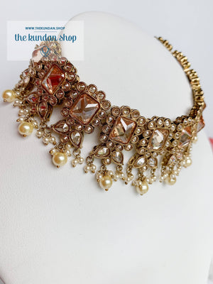 Valiant in Champagne Necklace Sets THE KUNDAN SHOP