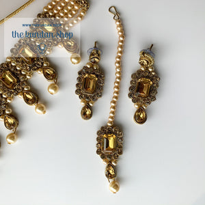 Loyals in Champagne, Necklace Sets - THE KUNDAN SHOP