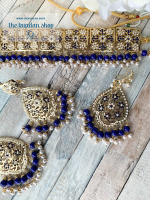 Classic & Timeless: Rejuvenated in Blue, Necklace Sets - THE KUNDAN SHOP