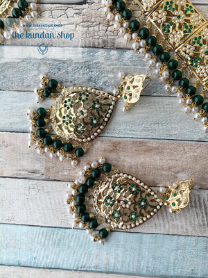 Classic & Timeless: Rejuvenated in Green, Necklace Sets - THE KUNDAN SHOP