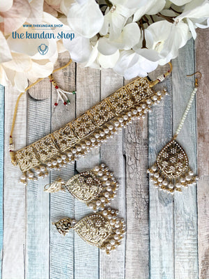 Classic & Timeless: Rejuvenated in Pearl, Necklace Sets - THE KUNDAN SHOP