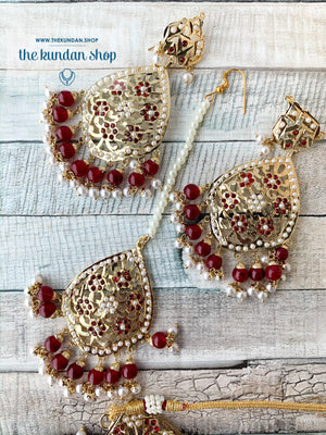 Classic & Timeless: Rejuvenated in Red, Necklace Sets - THE KUNDAN SHOP