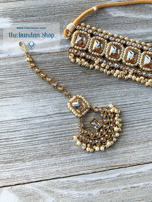 Allured in Champagne & Pearl, Necklace Sets - THE KUNDAN SHOP