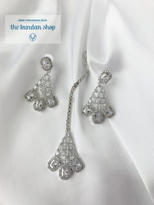 Exposed in Silver Necklace Sets THE KUNDAN SHOP
