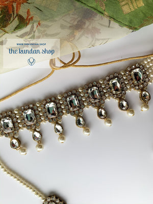 Loyals in Clear, Necklace Sets - THE KUNDAN SHOP
